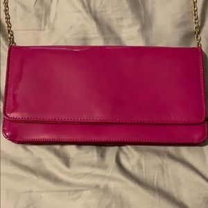 Pink Aldo Clutch with Gold Chain